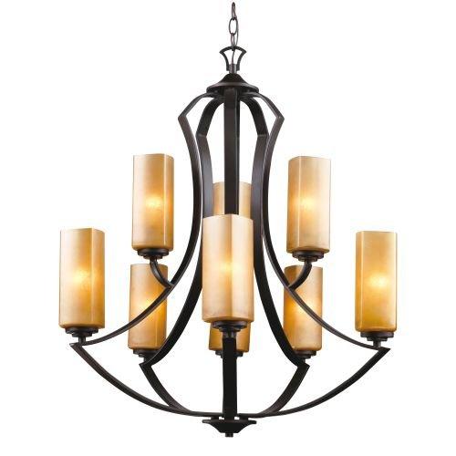 Trans Globe Lighting 70639 ABZ Mediterranean Inspired 2 Tiered Chandelier Antique Bronze, 12
