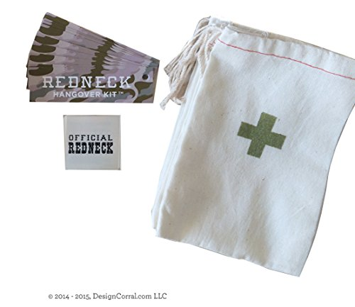 Design Corral Redneck Wedding Hangover Kit 4 X 6 Inch Bags Redneck