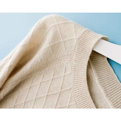 Sezione Da Maglia Media White Mallty Ol 2xl S Lunga Donna In Taglia Cashmere A Manica E Femminile wvUUqg5