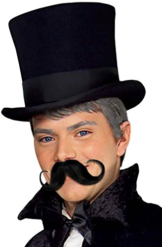 Forum Novelties Men's Handlebar Moustache, Black, Standard -