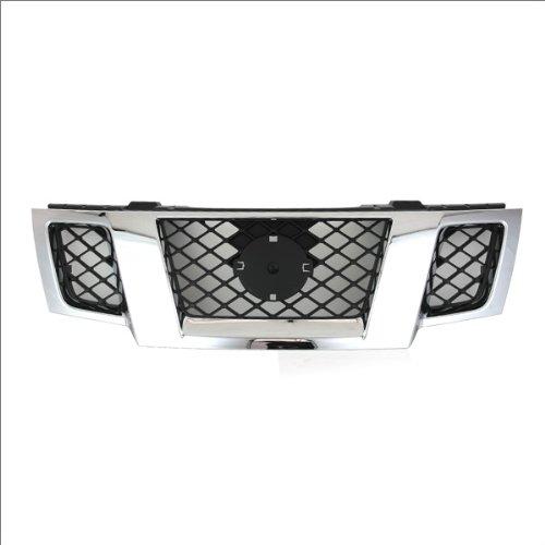 CarPartsDepot, Chrome Grille Outer Frame mat Black Mesh Grill Insert Pickup 4-Dr,400-361621 62310-ZL00B NI1200233