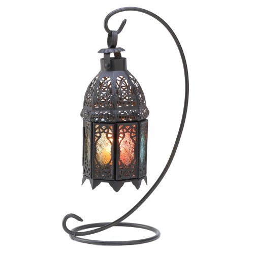 Gifts & Decor Rainbow Moroccan Ornate Candle Holder Lantern Stand (Star Stand Candle)