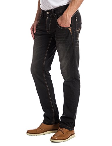 Vaqueros 3823 Black Wash Faced HaroldTZ Hombre para Rough Timezone wEzPvw
