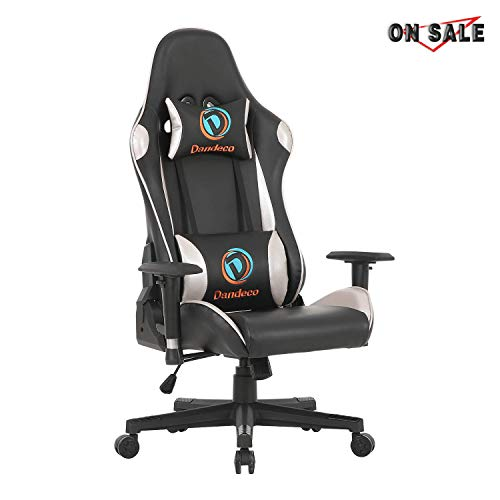 LCH LCH-DS-001 Gaming Chair, Silver (Best Gaming Desk Chair 2019)