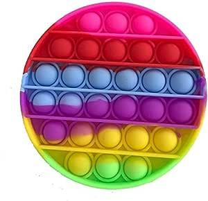 Pop it Bubble Sensory Fidget Toy Autism Stress Relief Silent Classroom Special Needs Stress Reliever - Multi color