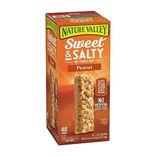 (Nature Valley Sweet & Salty Nut Granola Bars, Peanut - 48 count, 1.2 oz bars)