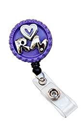 Retractable Rhinestone Bottle Cap 3D RN Badge Reels (Style B)