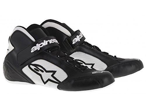 Alpinestars 2712013-121-10 Tech 1-K Shoes, Black/White, Size 10 by Alpinestars