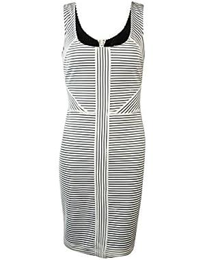 Guess Women's 'Lanise' Textured Stripe Sleeveless Dress