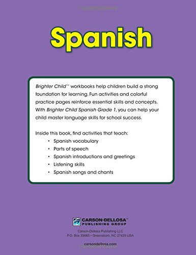 Spanish Workbook, Grade 1 (Brighter Child: Grades 1): Brighter ...