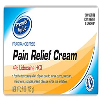 Amazon com: PV Pain Relief Cream w/4% Lidocaine HCI - 2 7oz