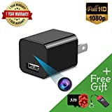 Hidden Camera HD 1080P USB Wall Charger Spy Camera for Use in Security Surveillance or as a Mini Nanny Pet Cam