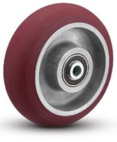 8'' x 2'' Round Tread Polyurethane On Aluminum Wheel, 1,500 lbs Capacity