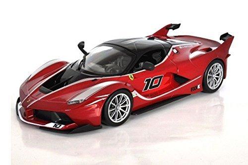 New 1:24 DISPLAY FERRARI RACE & PLAY - RED FERRARI FXX K Diecast Model Car By BBurago -