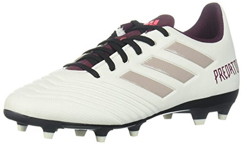 - adidas Women's Predator 18.4 Firm Ground Soccer Shoe, Talc/Vapour Grey/Maroon, 6.5 M