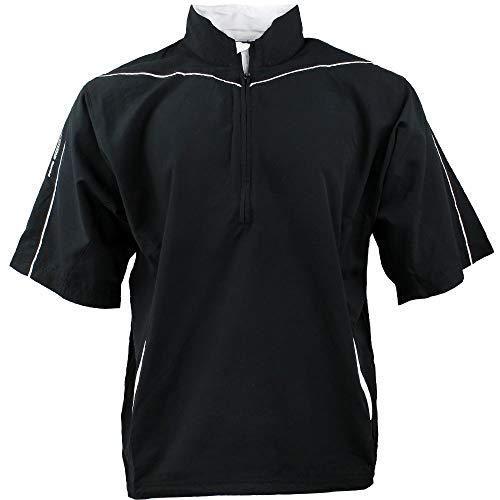 PAGE & TUTTLE Mens Peached 1/2 SLV Windshirt Golf Athletic Jacket Black L