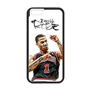 4.7 inch Screen iPhone 6 TPU case with Chicago Bulls Derrick Rose iMage (Laser Technology)-by Allthingsbasketball Kimberly Kurzendoerfer