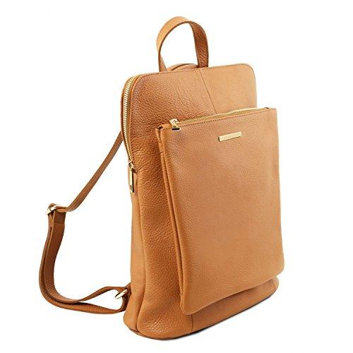 Rouge à Tuscany Bag Leather pour en Dos Souple Sac Cognac Cuir Femme TL TL141682 77nAxU6
