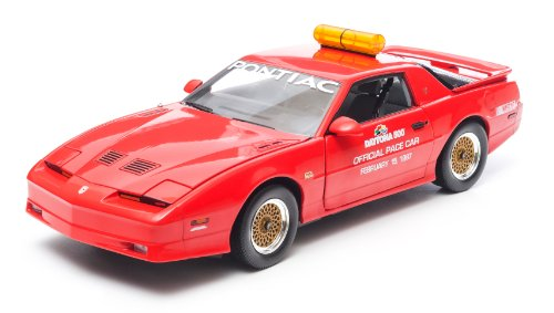 GreenLight 1987 Daytona 500 Pace Car Pontiac Trans Am Diecast Vehicle, Red, Scale 1:18