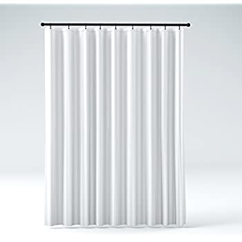 THE SHOWER CURTAIN LINER Hotel Quality Mildew Resistant Washable Fabric,  Water Repellent, Elegant