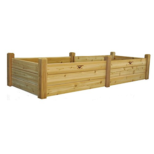 Gronomics RGBT 34-95 34-Inch by 95-Inch by 19-Inch Raised Garden Bed, Unfinished