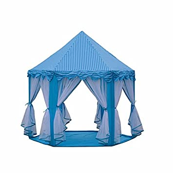 ZHUDJ Six Corner Children Tent Tent Game House Indoor Outdoor Mosquito Tent  Chiffon Princess Castle, 0a2ab26ad45b