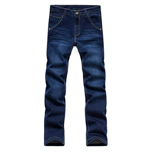 Stretch Denim Pants Slim Nero A Vintage Skinny Da Fit Fashion Casual Uomo Vita Pantaloni Jeans Alta EwOBn6qpn