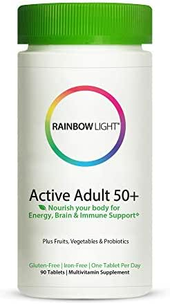 Rainbow Light Active Adult 50+, Once-Daily Multivitamin - 90 Tablets (Packaging May Vary)