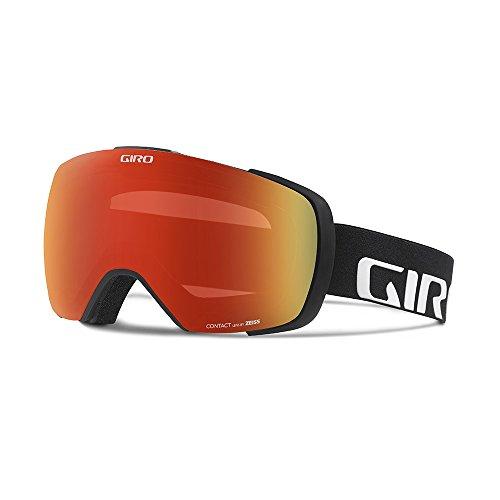 Giro Contact Snow Goggle - Men's Black Wordmark Frame with Amber Scarlet/Persimmon Blaze - Lens Scarlet