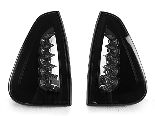Black Trim/Smoke Lens White LED Corner Signal Lights By DEPO Fit 2006-2010 Dodge Charger