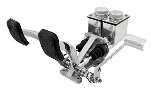 EMPI 16-2531-0 RACE TRIM Dual Pedal Assembly, w/Throttle, 3/4'' Clutch - 7/8'' Brake, Polished by Empi