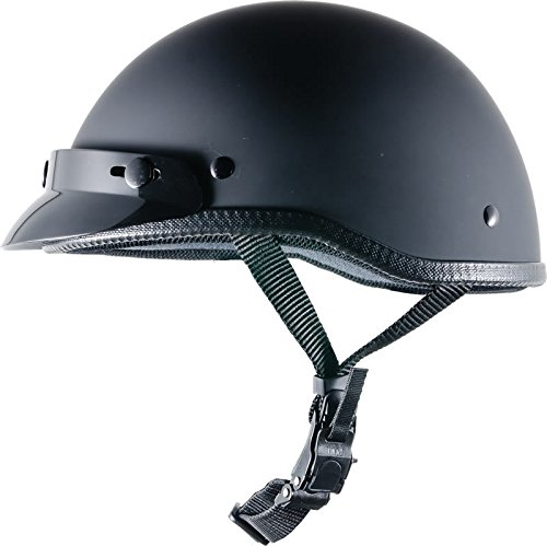 CRAZY AL'S WORLDS SMALLEST HELMET SOA INSPIRED IN FLAT BLACK WITH VISOR SIZE LARGE
