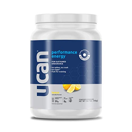 UCAN Performance Energy Powder (Lemon, 24.7oz, 20 Servings) – No Sugar, Gluten Free, Vegan, Pre- and Post-Workout Drink, Keto Friendly