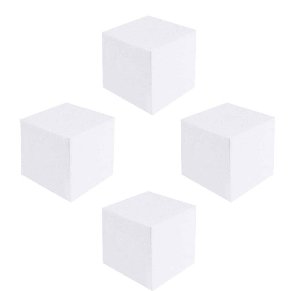 Artibetter 4pcs cubo de goma espuma espuma del arte bloque de espuma de ladrillo bloque de espuma de poliestireno cuadrada de escultura modelado artes y artesan/ías de bricolaje