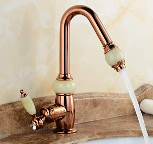 - Good Build Quality Chrome Monobloc Kitchen Sink Mixer Tap,Swivel Spout Pull Out Bar Taps Traditional Hot and Cold Kitchen Pull Out Taps,Rosegold