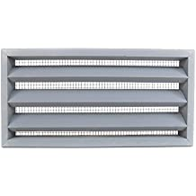 Miller Shingle Clear Cedar Foundation Vent With Louvers, Primed - 16 inch x 8 inch