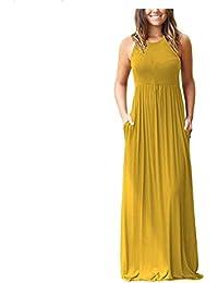 0c3d034afd7 2018 Summer Women Sleeveless Women Casual Loose Beach Dress Plus Size Female  Black Long