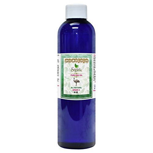 Emu Oil - Refined & Cold Pressed 100% Pure Natural 8 oz