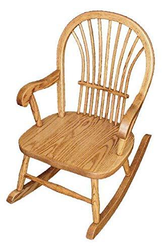 (Superior Woodcrafts Amish Hardwood Child's Sheaf Back Rocker (Oak (Standard)))