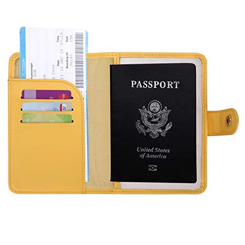 Zoppen Rfid Blocking Travel Passport Holder Cover Slim Id Card Case (#4 Mustard Yellow)