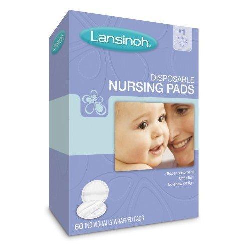 Lansinoh Nursing Pads Stay Dry 60 Each ( Pack of 2)