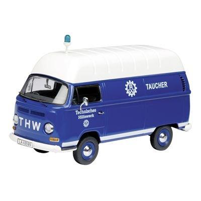 1/43 フォルクスワーゲン T2a ハイルーフ ボックスバン THW Taucher(ブルー×ホワイト) 03217