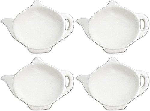 Tea Party Antique Tea Pot Tea Bag Holder - Set of 4 - Paint Your Own Ceramic Keepsake