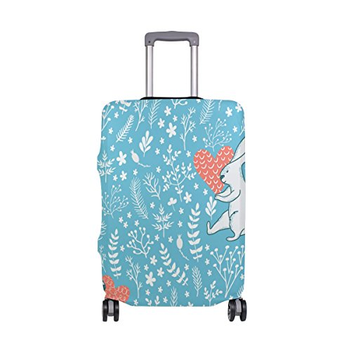 Cute Rabbit Love Floral Flowers Suitcase Luggage Cover Protector for Travel Kids Men Women by ALAZA (Image #7)