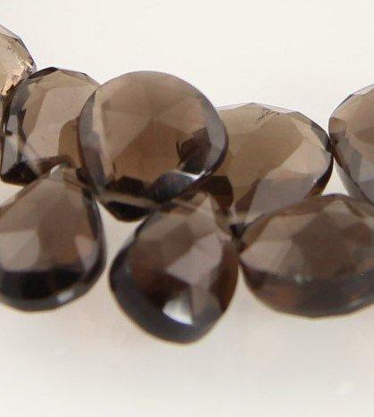 Smoky Quartz Briolettes Faceted Teardrop Gemstone Bead (Quartz Faceted Beads)