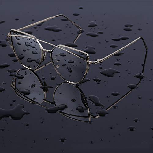 Dames Étoiles Lunettes De Solaires UV Protection Élégant Réfléchissant Cadre Soleil Cateye Charme En Lentilles Attrayant Métal 0Y7Iqw