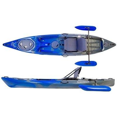 Current-Designs-Tailfin-Kayak-with-Outrigger-Blue-Storm