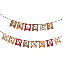 Tinksky Thanksgiving Party Hanging Banner - Thanksgive Paper Festoon Thanksgiving Decor