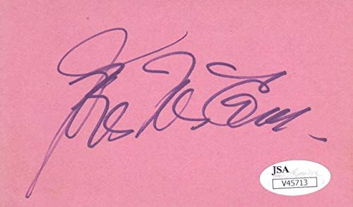 (JOEL McCREA d. 1990 Signed VINTAGE 3X5 Index Card, Sullivan's Travels V45713 - JSA Certified)