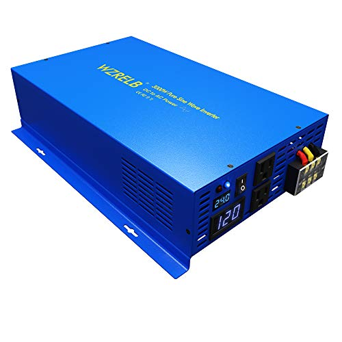 WZRELB 3000Watt Pure Sine Wave Car Power Inverter 24V DC to 120V AC
